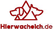 Hier wache ich - Tierschilder Logo