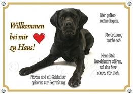 Hundeschild Labrador Retriever - Willkommen - Metallschild in TOP Qualität, 1. DIN A5 - 1