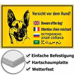 KAVARO Schild Hund Warnschild Hund Vorsicht Hund Achtung Hund - 1