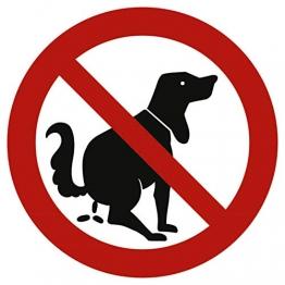 Schild Verbotszeichen Hier kein Hundeklo Alu 20 cm (Hundekot, Hundehaufen, Hundetoilette) wetterfest - 1
