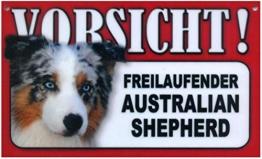 Spass kostet Türschild Warnschild Australian Shepherd - 1