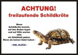 INDIGOS UG Türschild FunSchild - Schildkröte - für Käfig, Zwinger, Haustier, Tür, Tier, Aquarium - DIN A4 PVC 3mm stabil - 1