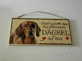 Türschild Dackel (18) aus Holz Schild Hund deutsche Herstellung - 1